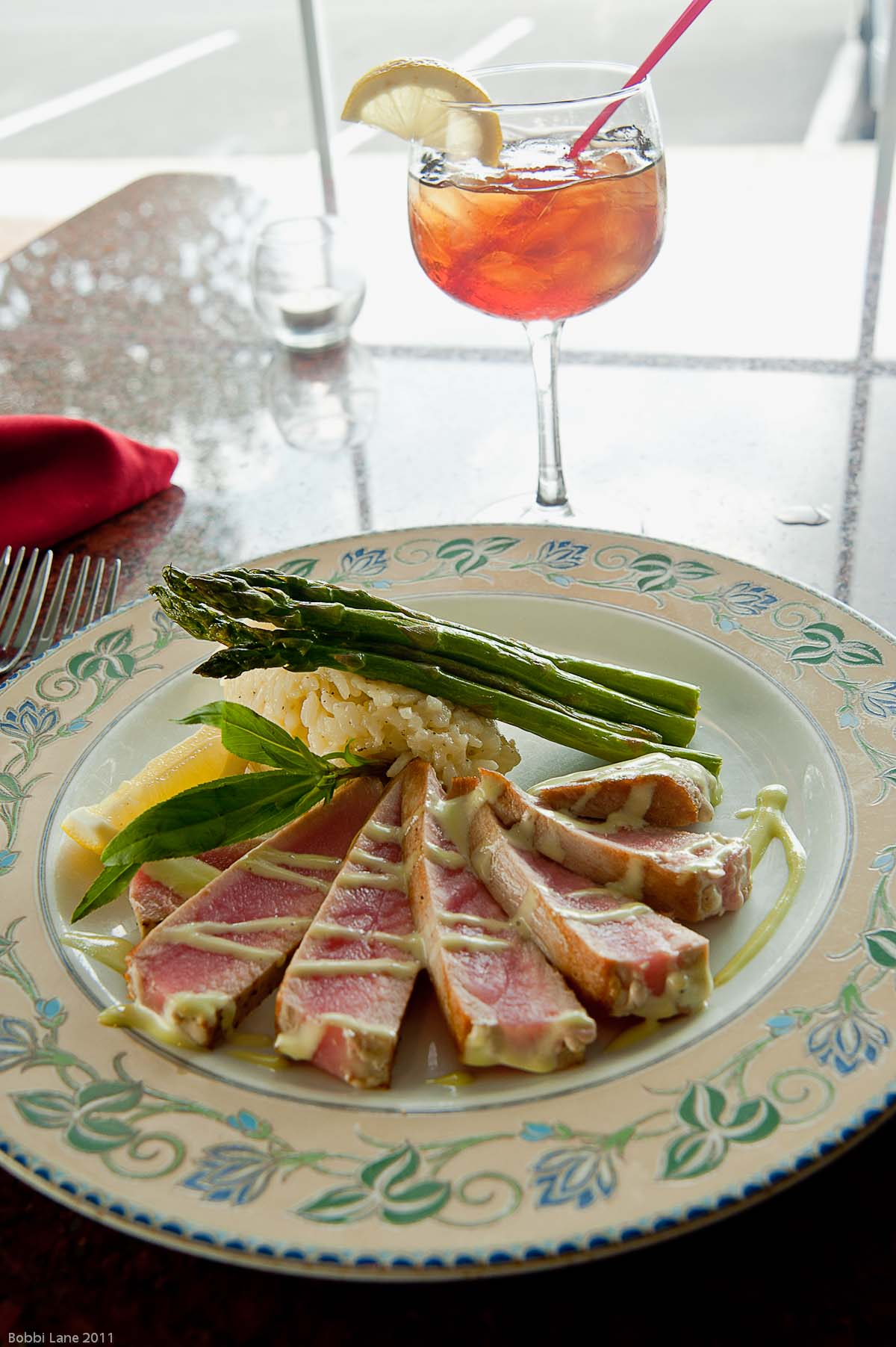3-Tuna and asparagus verticall