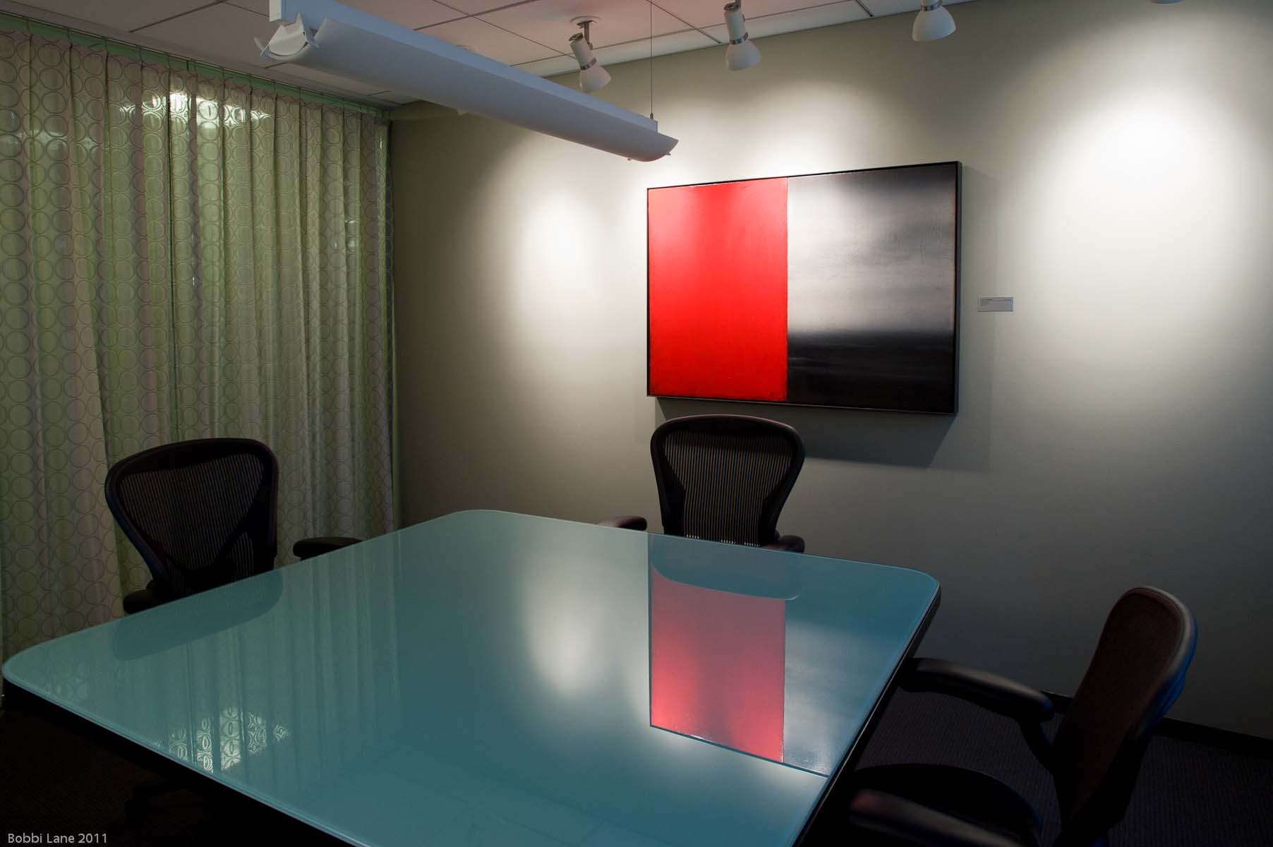 8-Red small conference room table 8 x 12 for web